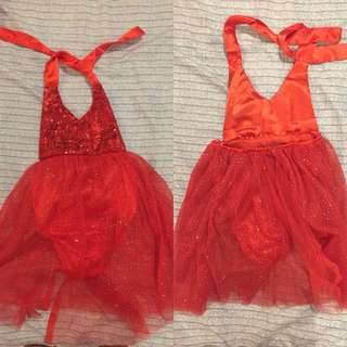 2 pcs Sequin tutu dress