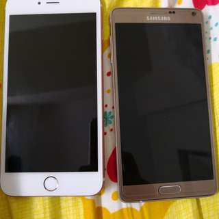 Iphone 6s plus 128gb and note 4
