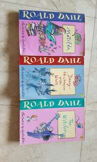 Roald Dahl books: Matilda, Danny the Champion of the world and The  witches