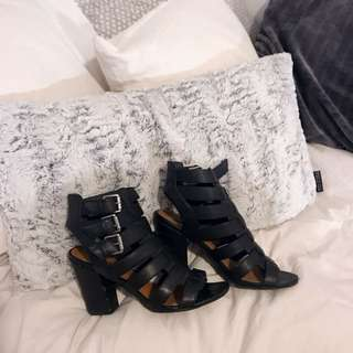Black Buckled Booties