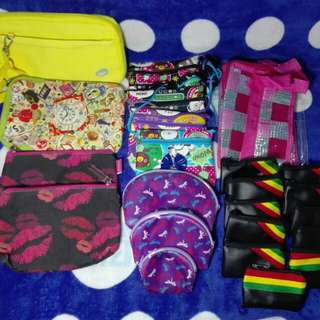 ASSORTED BAGS AND COIN PURSE