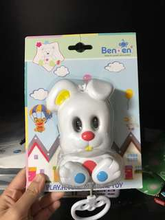 Baby musical toy (pull and there will be music, eyes and legs move) BNIB