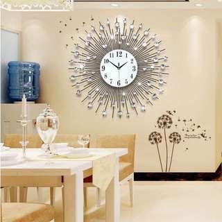 Large Crystal Wall Clock- Good Quality