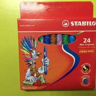 Stabilo Wax Crayons 24