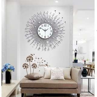 Large Crystal Wall Clock