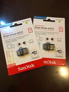 SanDisk Dual Drive m3.0 (Flash Drive for Android) 32GB