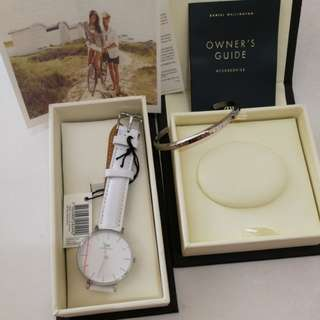 Daniel wellington 28mm bondi & cuff set
