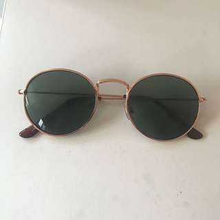 Princess Polly rose gold rounded sunglasses