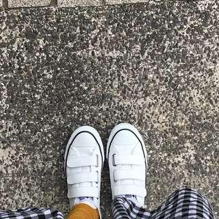 Converse 皮革 魔鬼氈帆布鞋
