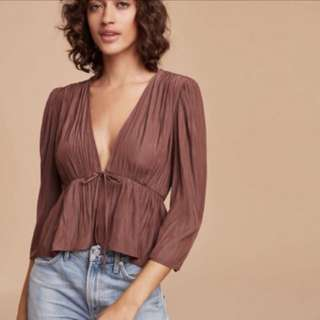 Price drop: Aritzia Shanina Cabin Wilfred Blouse