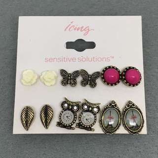 Icing Sample Earrings Stud set 六對裝耳環組合