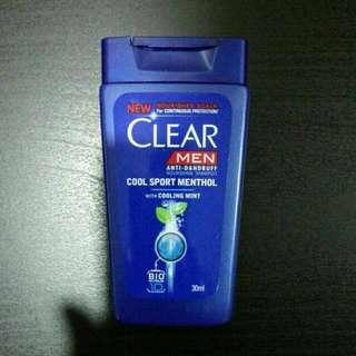 Brand New Clear Men Anti Dandruff Nourishing Shampoo 30ml