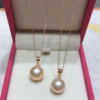 (限時優惠)天然11-12mm淡水珍珠吊咀18k金頸鏈🎁全新生日禮物母親節女朋友紀念日