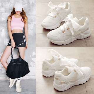 Satin Lace Sports Sneakers