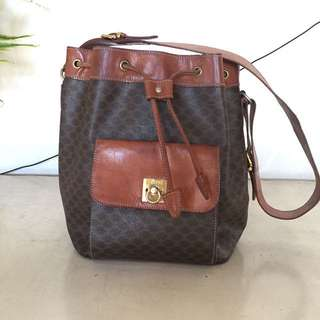 Authentic Vintage Celine Bucket Bag