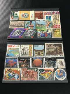 Singapore Stamp- 27 Singapore Used Stamps