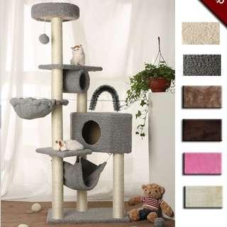 {InStock} Cat Condo M149 (Grey, White Color)