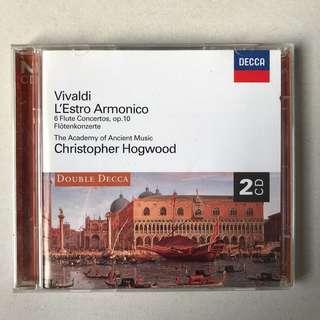 Vivaldi 6 Flute Concertos Hogwood DECCA 2-CD album
