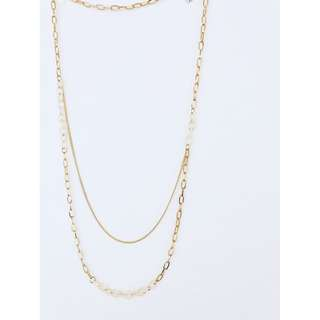Necklace w Rings & Gold Chain