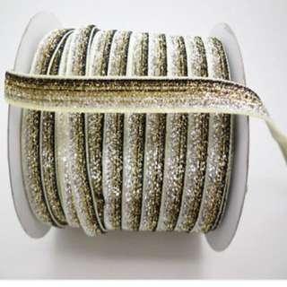 """5yards 3/8 """"10mm Sparkle Glitter Velvet Ribbon Headband"""