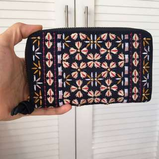 Parfois Embroidered Navy wallet