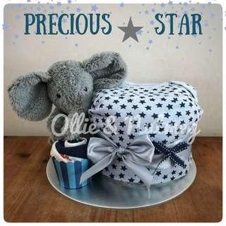 Customised Baby Shower Gift Hamper Diaper Cake