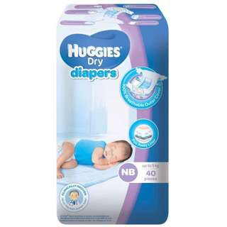 Huggies Dry Diapers Newborn (40pcs)