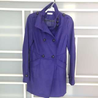 Promod Blue Purple Winter Coat (Free Delivery!)