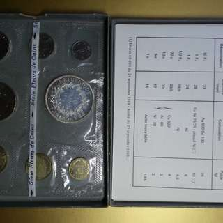 French coin mint set 1973 with large silver 10 Francs coin key date