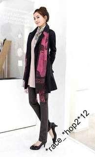 包順豐站取㊣韓版女裝薄款雙排扣修身外套(包腰帶)S-M 2色選$149/件
