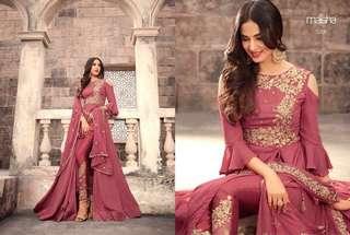 Designer Meisha Gowns( Semi Stiched)