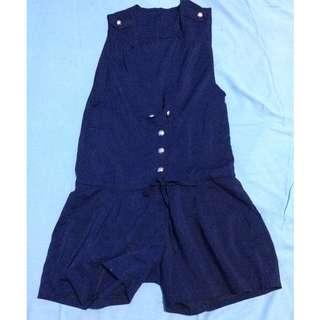 jumpsuit biru dongker