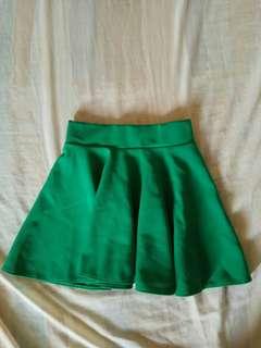 Green skaters skirt