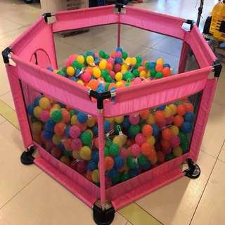 Pink Playpen Playground for Baby