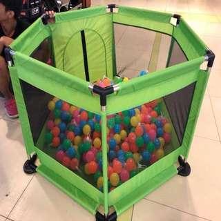 Green Playpen Playground for Baby
