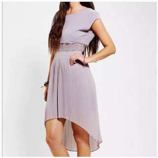 Open Back Lilac Dress