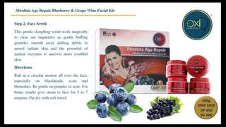 Absolute age Repair Blueberry and grape wine facial kit