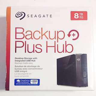 Seagate 8TB Backup Plus Hub External Desktop Hard Drive Disk