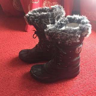 Kimberfeel black Fur Winter Boots / Snowshoes - Authentic