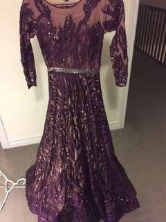 Purple beaded gown