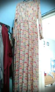 Asymetric long dress