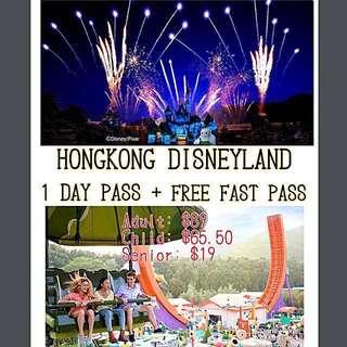 HONGKONG DISNEYLAND (1 DAY & 2 DAYS PASS) + FREE FAST PASS