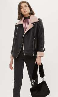 Sold Out Topshop Pink Shearling Coat/Jacket