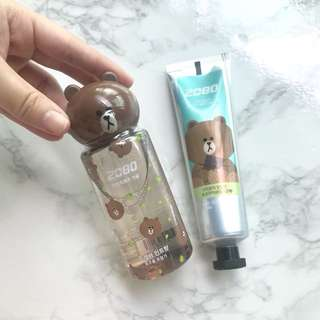 Only 1 Set Available! Korea LINE Friends 2080 Brown Travel Mouthwash & Chocolate Toothpaste. Special price for followers!