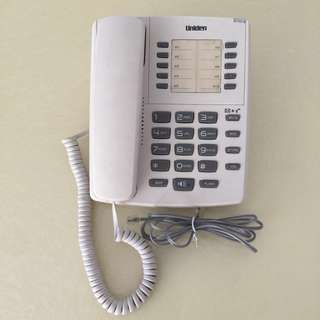 Uniden AS7301 Corded Phone with Speaker White
