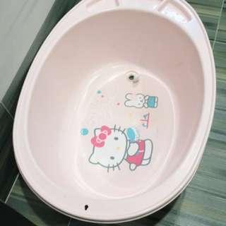 嬰幼兒浴盆-粉 Hello Kitty 凱蒂貓 嬰兒洗澡盆