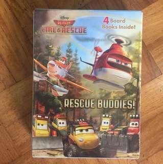 PLANES FIRE & RESCUE BOARD BOOK SET - 4pcs