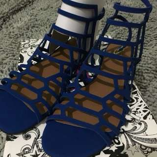Trash Blue Gladiator Sandals