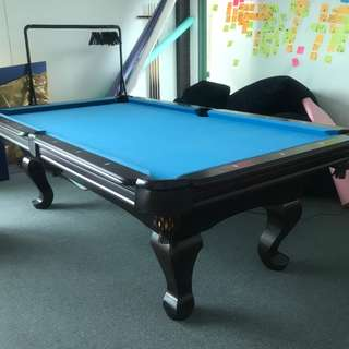 8ft Pool Table with Dining Table Top + Accessories