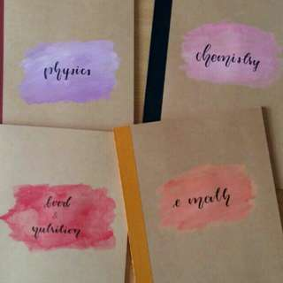 customisable notebooks and cards